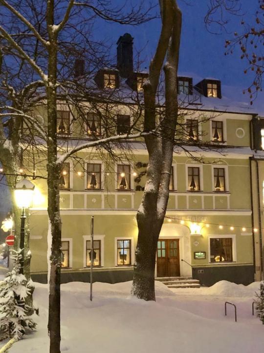 Schnee mit Lichter